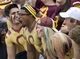 Sep 21, 2013; Mount Pleasant, MI, USA; Central Michigan Chippewas fans cheer during the fourth quarter against the Toledo Rockets at Kelly/Shorts Stadium. Rockets beat the Chippewas 38-17. Mandatory Credit: Raj Mehta-USA TODAY Sports