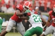 Sep 21, 2013; Athens, GA, USA; Georgia Bulldogs linebacker Jordan Jenkins (59) tackles North Texas Mean Green running back Antoinne Jimmerson (22) during the second half at Sanford Stadium. Georgia defeated North Texas 45-21. Mandatory Credit: Dale Zanine-USA TODAY Sports