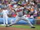 Sep 21, 2013; Chicago, IL, USA; Atlanta Braves starting pitcher Kris Medlen (54) throws a pitch in the first inning against the Chicago Cubs at Wrigley Field. Mandatory Credit: Dennis Wierzbicki-USA TODAY Sports