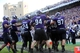 Sep 21, 2013; Evanston, IL, USA; Northwestern Wildcats linebacker Damien Proby (46) is congratulated by his teammates after returning an interception for a touchdown against the Maine Black Bears during the second quarter at Ryan Field.  Mandatory Credit: Jerry Lai-USA TODAY Sports