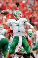 Sep 21, 2013; Athens, GA, USA; North Texas Mean Green quarterback Derek Thompson (7) passes the ball against the Georgia Bulldogs during the first half at Sanford Stadium. Georgia defeated North Texas 45-21. Mandatory Credit: Dale Zanine-USA TODAY Sports