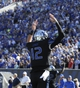 Sep 21, 2013; Memphis, TN, USA; [CAPTION] Memphis Tigers quarterback Paxton Lynch (12) reacts after throwing a touchdown pass at Liberty Bowl Memorial. Mandatory Credit: Justin Ford-USA TODAY Sports