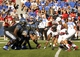Sep 21, 2013; Memphis, TN, USA; Memphis Tigers line up against Arkansas State Red Wolves at Liberty Bowl Memorial. Mandatory Credit: Justin Ford-USA TODAY Sports