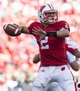 Sep 21, 2013; Madison, WI, USA;  Wisconsin Badgers quarterback Joel Stave (2) throws a pass during the third quarter against the Purdue Boilermakers at Camp Randall Stadium. Wisconsin defeated Purdue 41-10.  Mandatory Credit: Jeff Hanisch-USA TODAY Sports