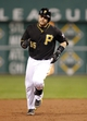 Sep 21, 2013; Pittsburgh, PA, USA; Pittsburgh Pirates catcher Russell Martin (55) round the bases on his two run home run against the Cincinnati Reds during the second inning at PNC Park. Mandatory Credit: Charles LeClaire-USA TODAY Sports