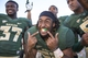 Sep 21, 2013; Waco, TX, USA; Baylor Bears running back Lache Seastrunk (25) celebrates the win over the Louisiana Monroe Warhawks Floyd Casey Stadium. The Bears defeated the Warhawks 70-7. Mandatory Credit: Jerome Miron-USA TODAY Sports