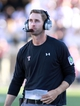 Sep 21, 2013; Lubbock, TX, USA; Texas Tech Red Raiders head coach Kliff Kingsbury on the sidelines during the game with the Texas State Bobcats at Jones AT&T Stadium. Mandatory Credit: Michael C. Johnson-USA TODAY Sports