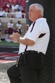 Sep 21, 2013; Lubbock, TX, USA; Texas State Bobcats head coach Dennis Franchione before the game with the Texas Tech Red Raiders at Jones AT&T Stadium. Mandatory Credit: Michael C. Johnson-USA TODAY Sports