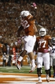 Sep 21, 2013; Austin, TX, USA; Texas Longhorns running back Johnathan Gray (32) celebrates his touchdown with tight end Geoff Swaim (82) against the Kansas State Wildcats during the third quarter of a football game at Darrell K Royal-Texas Memorial Stadium. Mandatory Credit: Jim Cowsert-USA TODAY Sports