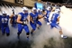 Sep 21, 2013; Colorado Springs, CO, USA; Members of Air Force Falcons run out onto the field before the start of the game against the Wyoming Cowboys at Falcon Stadium. Mandatory Credit: Ron Chenoy-USA TODAY Sports