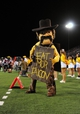 Sep 21, 2013; Colorado Springs, CO, USA; Wyoming Cowboys mascot Pistol Pete during the game against the Air Force Falcons in the first quarter at Falcon Stadium. Mandatory Credit: Ron Chenoy-USA TODAY Sports