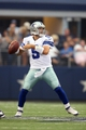 Sep 22, 2013; Arlington, TX, USA; Dallas Cowboys quarterback Tony Romo (9) throws in the pocket against the St. Louis Rams at AT&T Stadium. Mandatory Credit: Matthew Emmons-USA TODAY Sports