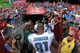 Sep 22, 2013; Landover, MD, USA; Detroit Lions wide receiver Calvin Johnson (81) walks off the field after the game against the Washington Redskins at FedEx Field. The Lions won 27-20. Mandatory Credit: Geoff Burke-USA TODAY Sports