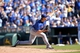 Sep 22, 2013; Kansas City, MO, USA; Texas Rangers pitcher Neal Cotts (56) delivers a pitch against the Kansas City Royals during the ninth inning at Kauffman Stadium. Mandatory Credit: Peter G. Aiken-USA TODAY Sports