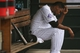Sep 22, 2013; Denver, CO, USA; Colorado Rockies pitcher Juan Nicasio (12) sits in the dugout after being taken out of the game during the third inning against the Arizona Diamondbacks at Coors Field. Mandatory Credit: Chris Humphreys-USA TODAY Sports