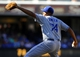 Sep 22, 2013; San Diego, CA, USA; Los Angeles Dodgers relief pitcher Kenley Jansen (74) throws during the ninth inning against the San Diego Padres at Petco Park. The Dodgers won 1-0. Mandatory Credit: Christopher Hanewinckel-USA TODAY Sports