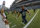 Sep 22, 2013; Seattle, WA, USA; Seattle Seahawks receiver Golden Tate (81) runs off the field after the game against the Jacksonville Jaguars at CenturyLink Field. The Seahawks defeated the Jaguars 45-17. Mandatory Credit: Kirby Lee-USA TODAY Sports