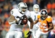 Sep 23, 2013; Denver, CO, USA; Oakland Raiders running back Darren McFadden (20) runs with the ball during the second half against the Denver Broncos at Sports Authority Field at Mile High.  The Broncos won 37-21. Mandatory Credit: Chris Humphreys-USA TODAY Sports