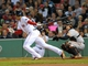 Sep 17, 2013; Boston, MA, USA; Boston Red Sox shortstop Xander Bogaerts (72) bats during the seventh inning against the Boston Red Sox at Fenway Park. Mandatory Credit: Bob DeChiara-USA TODAY Sports