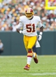 Sep 15, 2013; Green Bay, WI, USA;  Washington Redskins linebacker Brandon Jenkins (51) during the game against the Green Bay Packers at Lambeau Field.  Green Bay won 38-20.  Mandatory Credit: Jeff Hanisch-USA TODAY Sports