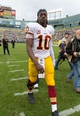 Sep 15, 2013; Green Bay, WI, USA;  Washington Redskins quarterback Robert Griffin III (10) following the game against the Green Bay Packers at Lambeau Field.  Green Bay won 38-20.  Mandatory Credit: Jeff Hanisch-USA TODAY Sports