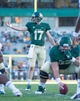 Sep 21, 2013; Waco, TX, USA; Baylor Bears quarterback Seth Russell (17) during the game against the Louisiana Monroe Warhawks at Floyd Casey Stadium. The Bears defeated the Warhawks 70-7. Mandatory Credit: Jerome Miron-USA TODAY Sports