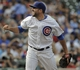 Sep 20, 2013; Chicago, IL, USA; Chicago Cubs pitcher Blake Parker in their game against the Atlanta Braves at Wrigley Field. Mandatory Credit: Matt Marton-USA TODAY Sports