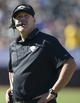 Sep 15, 2013; Oakland, CA, USA; (Editor's Note: Caption Correction) Jacksonville Jaguars defensive line coach Todd Wash reacts during the game against the Oakland Raiders at O.co Coliseum. The Raiders defeated the Jaguars 19-9.  Mandatory Credit: Kirby Lee-USA TODAY Sports