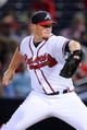 Sep 24, 2013; Atlanta, GA, USA; Atlanta Braves relief pitcher Craig Kimbrel (46) pitches  against the Milwaukee Brewers during the ninth inning at Turner Field. The Braves defeated the Brewers 3-2. Mandatory Credit: Dale Zanine-USA TODAY Sports