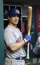 Sep 24, 2013; Cincinnati, OH, USA; New York Mets third baseman David Wright prepares in the dugout before a game with the Cincinnati Reds at Great American Ball Park. Mandatory Credit: David Kohl-USA TODAY Sports