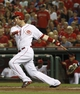 Sep 24, 2013; Cincinnati, OH, USA; Cincinnati Reds third baseman Todd Frazier bats during a game against the New York Mets at Great American Ball Park. Mandatory Credit: David Kohl-USA TODAY Sports
