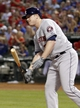 Sep 24, 2013; Arlington, TX, USA; Houston Astros left fielder Marc Krauss (59) reacts to striking out in the sixth inning of the game against the Texas Rangers at Rangers Ballpark in Arlington. The Texas Rangers beat the Houston Astros 3-2. Mandatory Credit: Tim Heitman-USA TODAY Sports