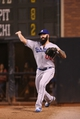 Sep 24, 2013; San Francisco, CA, USA; Los Angeles Dodgers relief pitcher Brian Wilson (00) warms up in the bullpen during the top of the eighth inning against the San Francisco Giants at AT&T Park. Mandatory Credit: Kelley L Cox-USA TODAY Sports