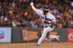 Sep 24, 2013; San Francisco, CA, USA; Los Angeles Dodgers relief pitcher Brian Wilson (00) pitches the ball against the San Francisco Giants during the eighth inning at AT&T Park. Mandatory Credit: Kelley L Cox-USA TODAY Sports