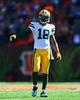 Sep 22, 2013; Cincinnati, OH, USA; Green Bay Packers wide receiver Randall Cobb (18) against the Cincinnati Bengals at Paul Brown Stadium. Mandatory Credit: Andrew Weber-USA TODAY Sports