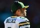 Sep 22, 2013; Cincinnati, OH, USA; Green Bay Packers quarterback Seneca Wallace (9) against the Cincinnati Bengals at Paul Brown Stadium. Mandatory Credit: Andrew Weber-USA TODAY Sports