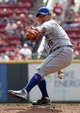 Sep 25, 2013; Cincinnati, OH, USA; New York Mets starting pitcher Daisuke Matsuzaka throws against the Cincinnati Reds in the first inning at Great American Ball Park. Mandatory Credit: David Kohl-USA TODAY Sports