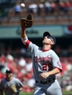 Sep 25, 2013; St. Louis, MO, USA; Washington Nationals first baseman Adam LaRouche (25) makes a catch against the St. Louis Cardinals at Busch Stadium. Mandatory Credit: Scott Rovak-USA TODAY Sports