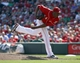 Sep 25, 2013; Cincinnati, OH, USA; Cincinnati Reds relief pitcher Aroldis Chapman releases a pitch against the New York Mets in the ninth inning at Great American Ball Park. The Mets won 1-0. Mandatory Credit: David Kohl-USA TODAY Sports