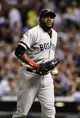 Sep 25, 2013; Denver, CO, USA; Boston Red Sox first baseman David Ortiz (34) during the fifth inning of the game against the Colorado Rockies at Coors Field. Mandatory Credit: Ron Chenoy-USA TODAY Sports