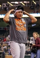 Sep 25, 2013; Minneapolis, MN, USA; Detroit Tigers third baseman Miguel Cabrera (24) celebrates after beating the Minnesota Twins and winning the American League central division championship at Target Field. The Tigers won 1-0. Mandatory Credit: Jesse Johnson-USA TODAY Sports