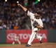 Sep 25, 2013; San Francisco, CA, USA; San Francisco Giants relief pitcher George Kontos (70) pitches against the Los Angeles Dodgers during the sixth inning at AT&T Park. Mandatory Credit: Ed Szczepanski-USA TODAY Sports