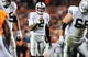 Sep 23, 2013; Denver, CO, USA; Oakland Raiders quarterback Terrelle Pryor (2) during the game against the Denver Broncos at Sports Authority Field at Mile High. Mandatory Credit: Chris Humphreys-USA TODAY Sports