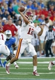 Sep 26, 2013; Tulsa, OK, USA; Iowa State Cyclones quarterback Sam Richardson (12) throws a pass during the first half against the Tulsa Golden Hurricane at Skelly Field at H.A. Chapman Stadium. Mandatory Credit: Alonzo Adams-USA TODAY Sports