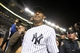 Sep 26, 2013; Bronx, NY, USA; New York Yankees relief pitcher Mariano Rivera (42) leaves the field after his final home game against the Tampa Bay Rays at Yankee Stadium. Mandatory Credit: Brad Penner-USA TODAY Sports