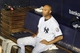 Sep 26, 2013; Bronx, NY, USA; New York Yankees relief pitcher Mariano Rivera (42) sits alone in the dugout after his final home game against the Tampa Bay Rays at Yankee Stadium. Mandatory Credit: Brad Penner-USA TODAY Sports