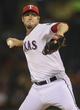 Sep 26, 2013; Arlington, TX, USA; Texas Rangers relief pitcher Joe Nathan (36) throws during the ninth inning against the Los Angeles Angels at Rangers Ballpark in Arlington. Mandatory Credit: Kevin Jairaj-USA TODAY Sports