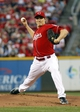 Sep 27, 2013; Cincinnati, OH, USA; Cincinnati Reds starting pitcher Homer Bailey throws against the Pittsburgh Pirates in the first inning at Great American Ball Park. Mandatory Credit: David Kohl-USA TODAY Sports