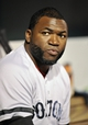 Sep 27, 2013; Baltimore, MD, USA; Boston Red Sox designated hitter David Ortiz (34) on the bench during the third inning against the Baltimore Orioles at Oriole Park at Camden Yards. Mandatory Credit: Joy R. Absalon-USA TODAY Sports