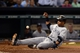 Sep 27, 2013; Houston, TX, USA; New York Yankees second baseman Robinson Cano (24) beats the throw home against the Houston Astros during the fourth inning at Minute Maid Park. Mandatory Credit: Thomas Campbell-USA TODAY Sports